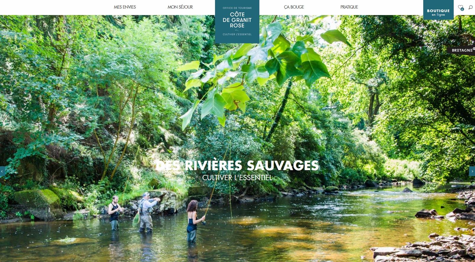Page d'accueil site Bretagne Côte de Granit Rose